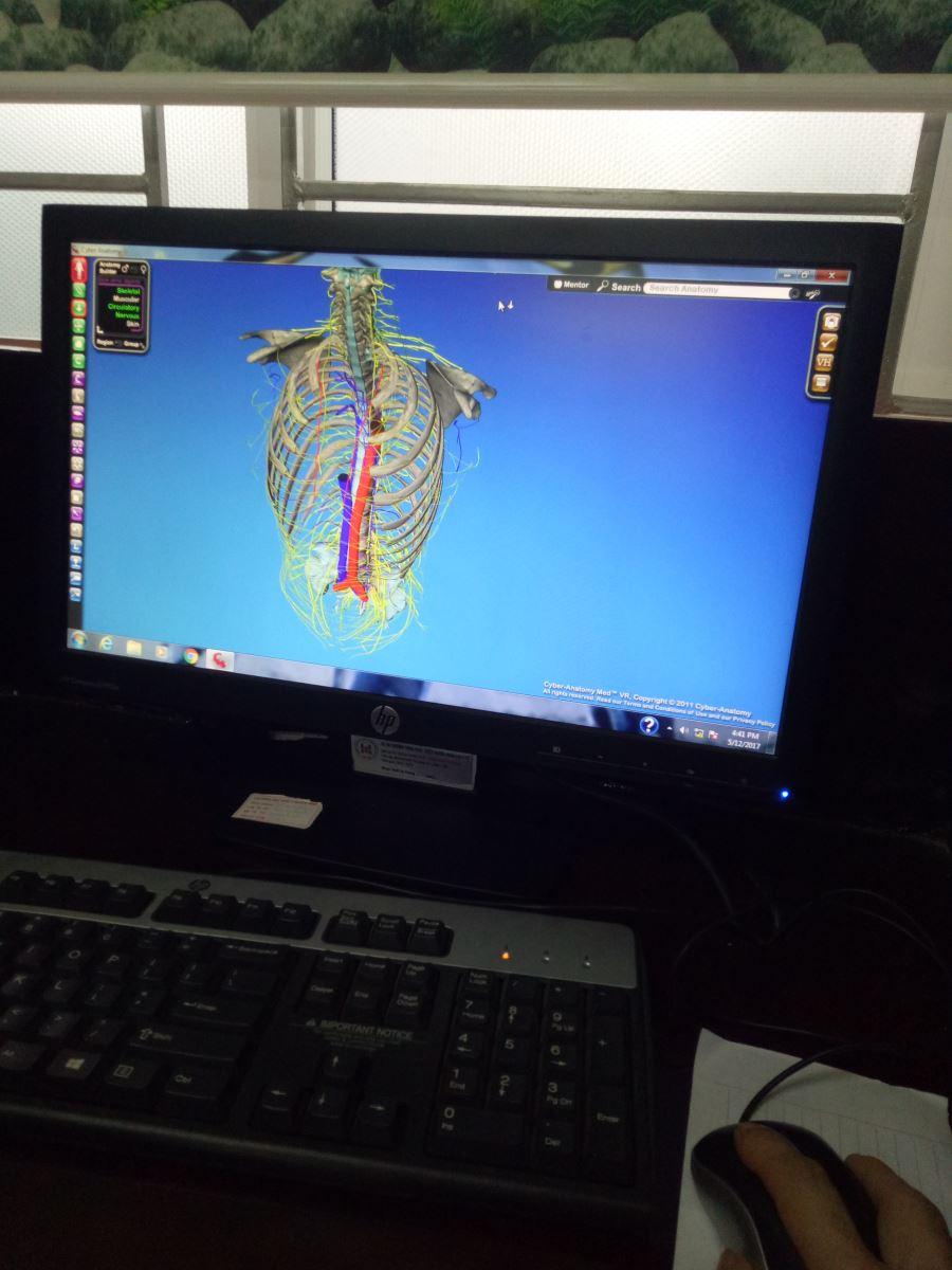 Sinh viên sử dụng phần mềm giải phẫu
